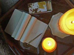 Candles and journaling